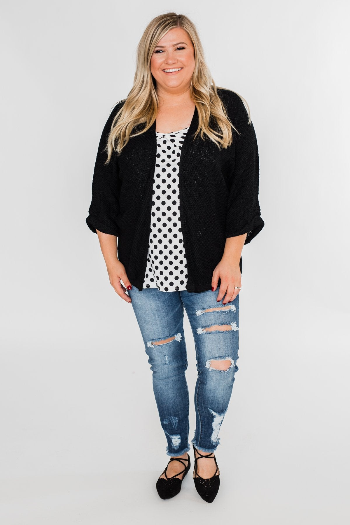 The Perfect Knit Cardigan- Black