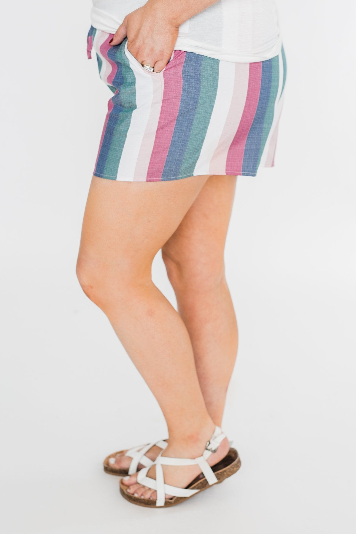 Multi Colored Fashion Shorts- Pink & Fuchsia