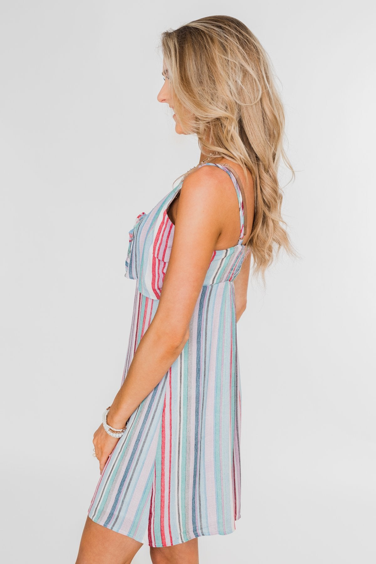 So Sweet Striped Dress- Multi Colored