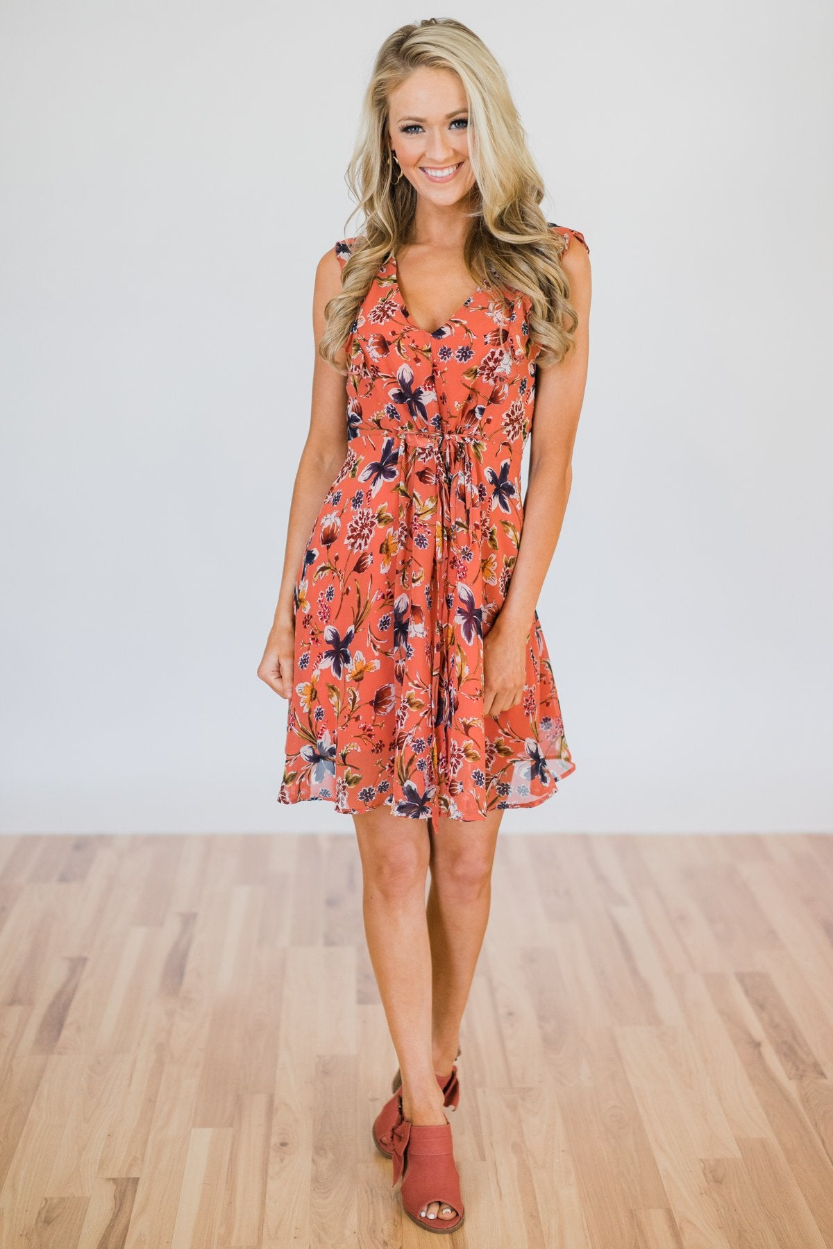 Fantastically Floral Dress- Spice