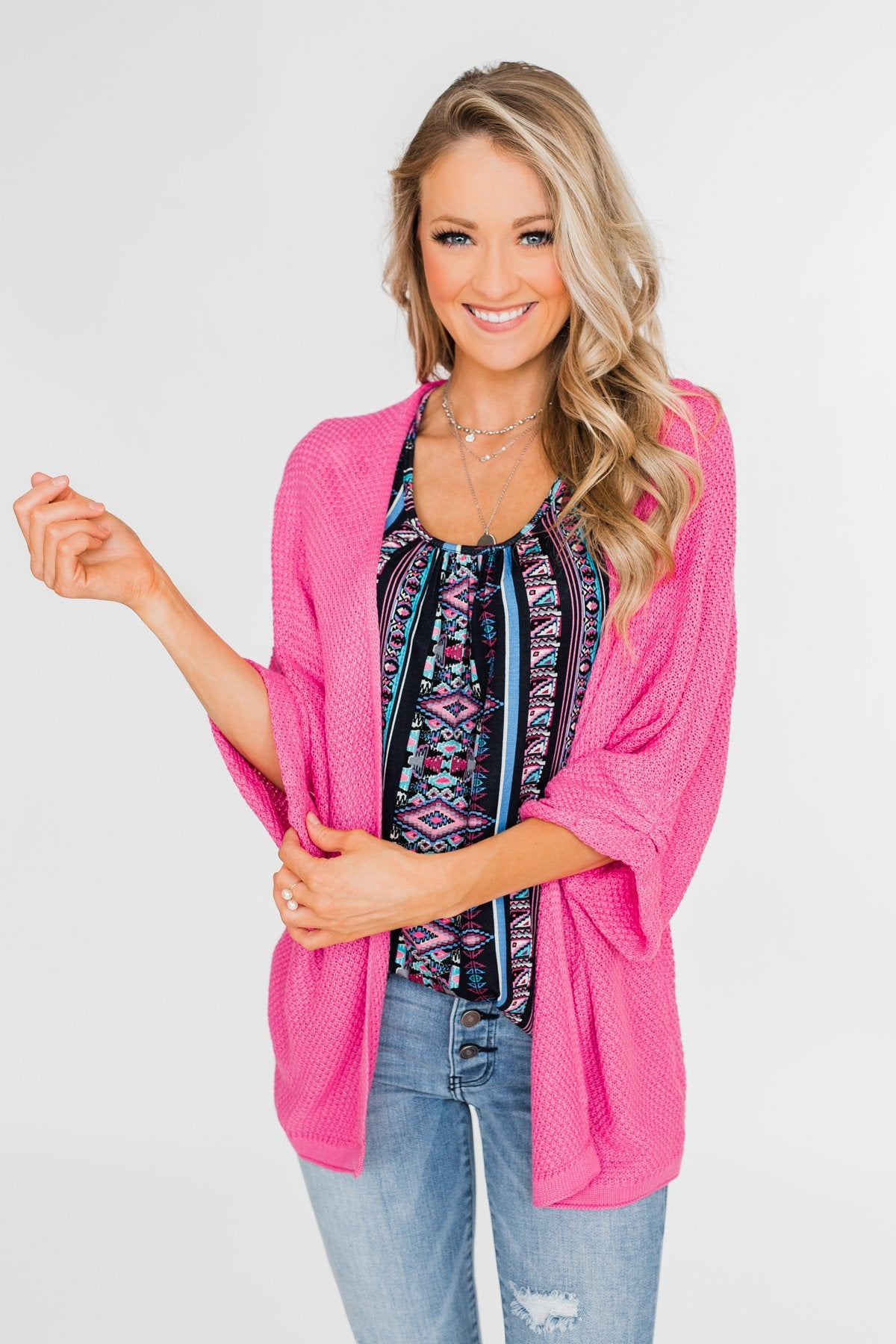 The Perfect Knit Cardigan- Pink