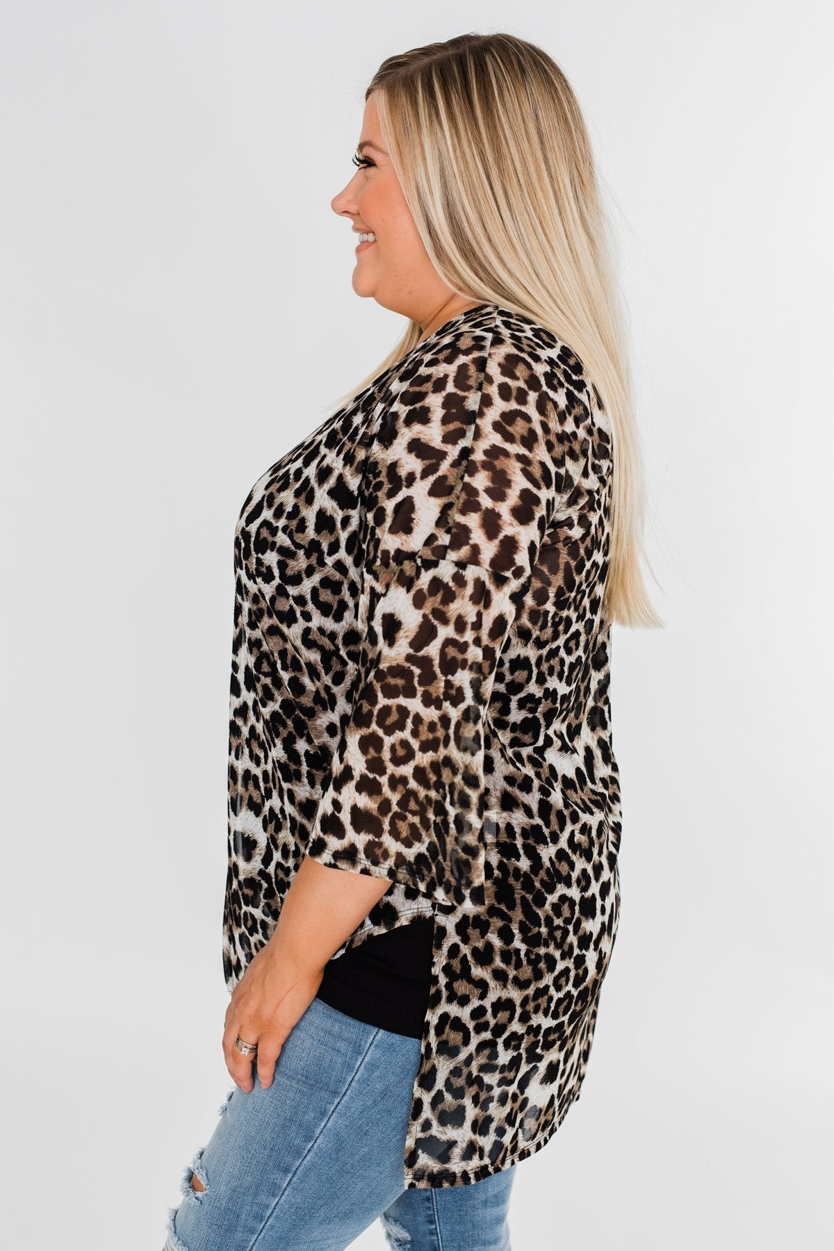 Wild For You Kimono- Animal Print