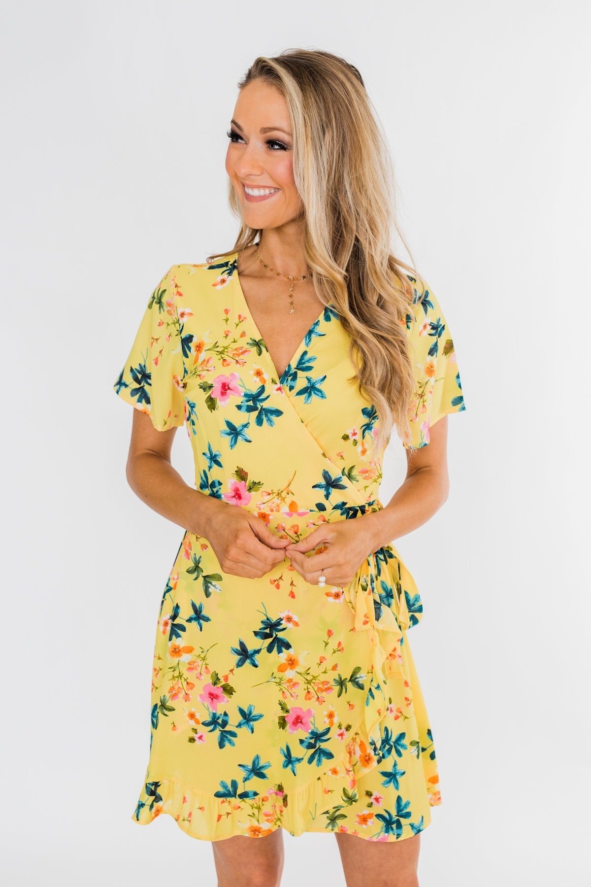 Summer Sun Wrap Dress- Yellow