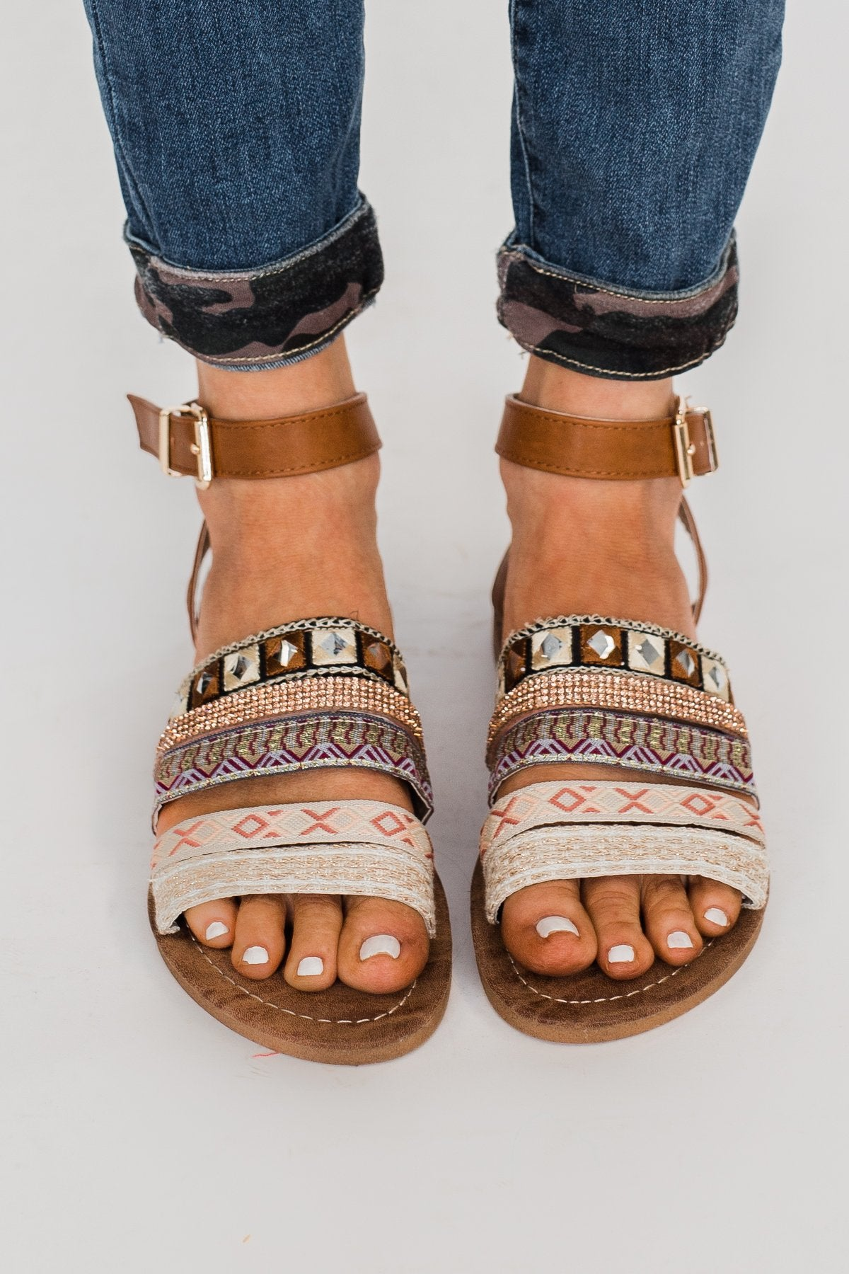 Very G Gypsy Girl Sandals- Tan