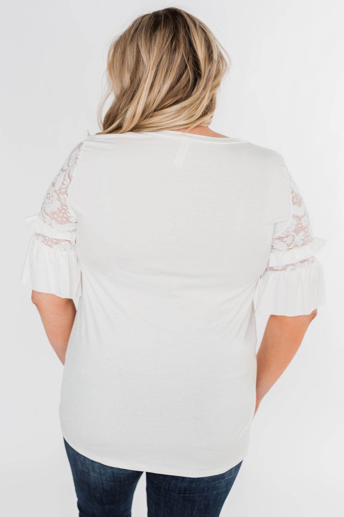 Part Of You Half Bell Sleeve Top- Ivory