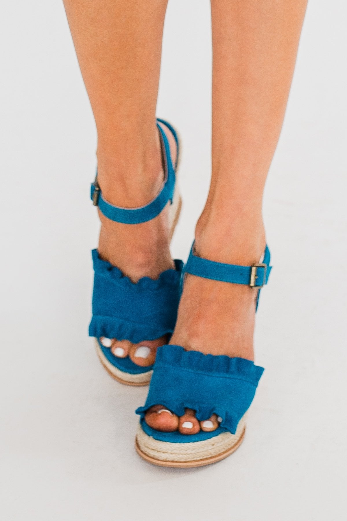 Naughty Monkey Love Wedges- Teal