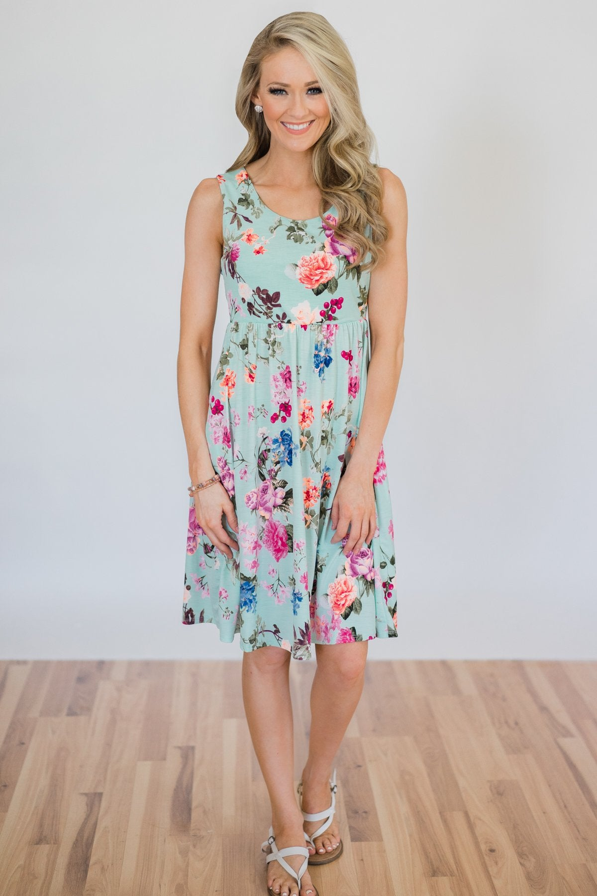 Your Own Beautiful Floral Dress- Peach