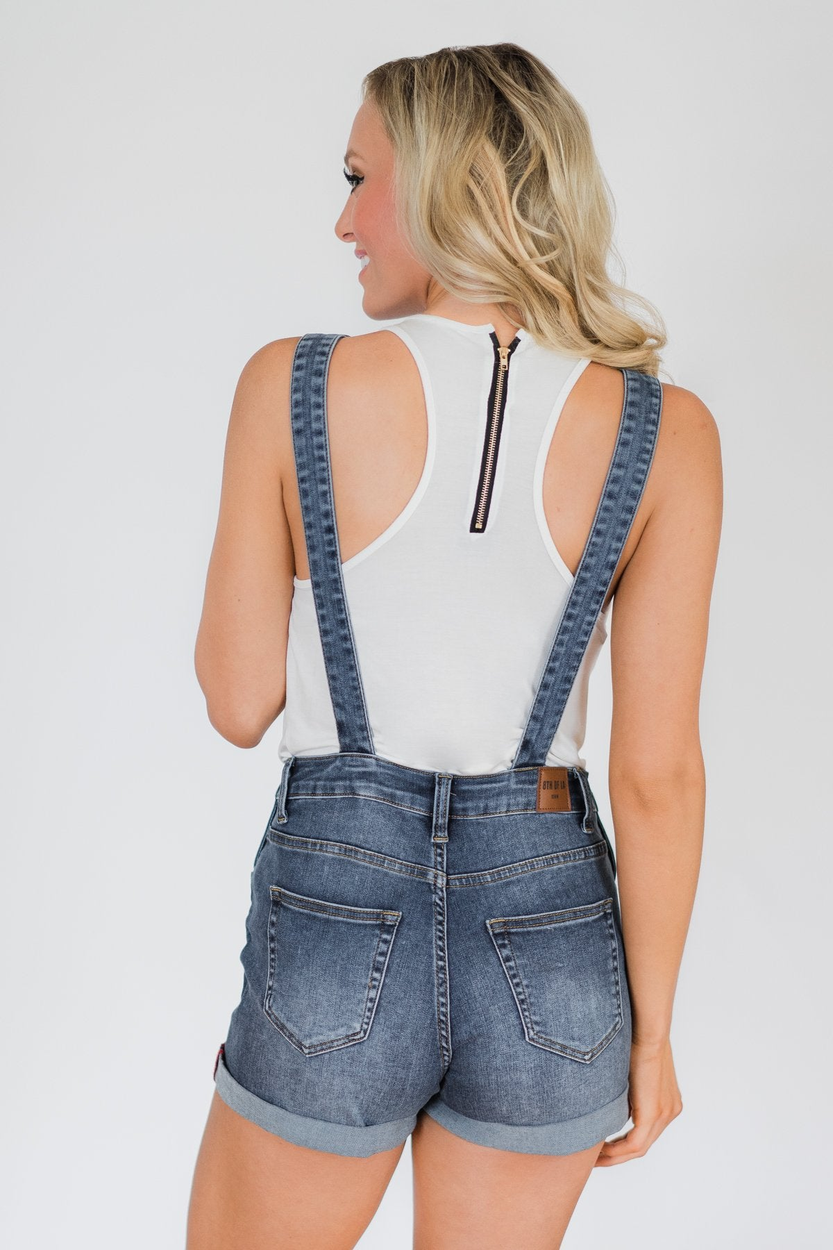 8th of LA Short Overalls- Ally Wash