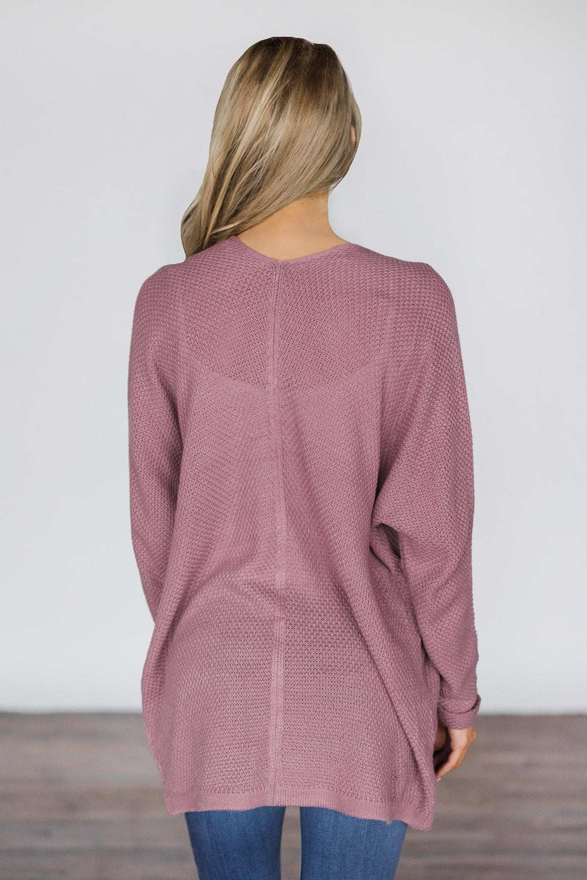 Deep Lilac Knit Cardigan