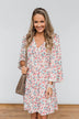 Lean On Me Floral V-Neck Dress- Ivory