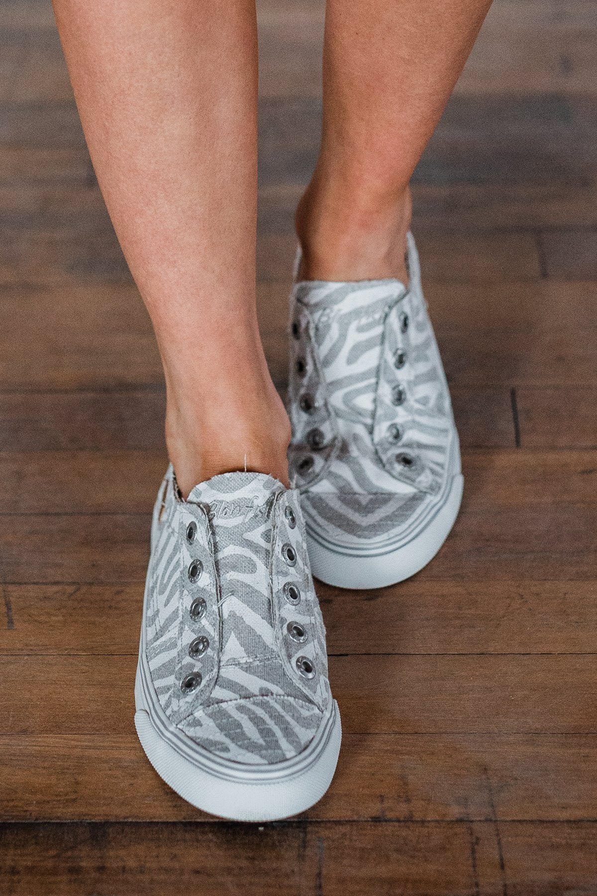 Blowfish Play Sneakers- Off White Zebra Print