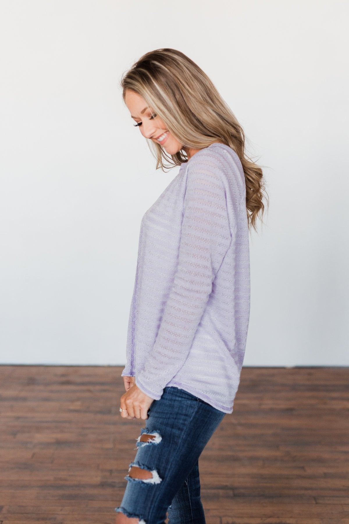 Find Me By The Flowers Knit Sweater- Lilac