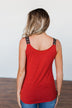 Somewhere Next To You Twist Tank Top- Rust