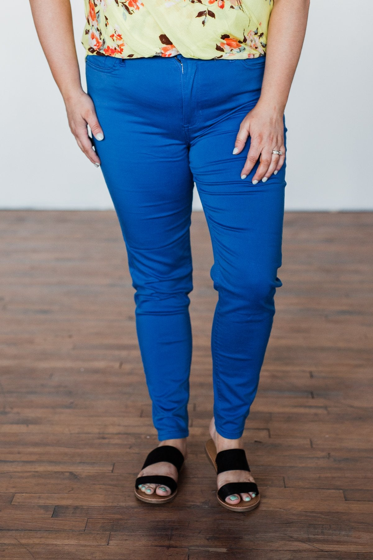 Celebrity Pink Ankle Skinny Jeans- Royal Blue