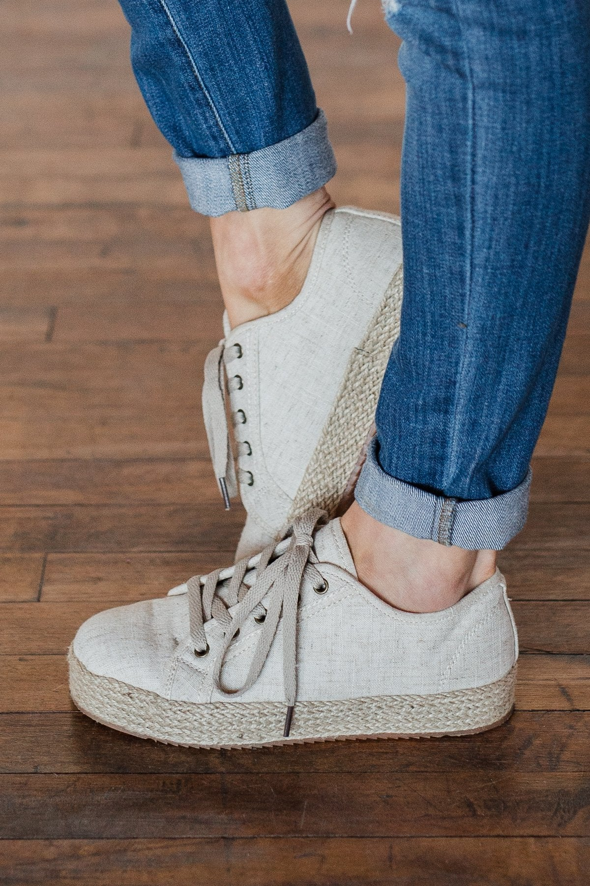 Not Rated Mateo Sneakers- Natural Canvas