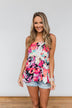 Wonderful For You Floral Babydoll Tank Top- Multi-Colored