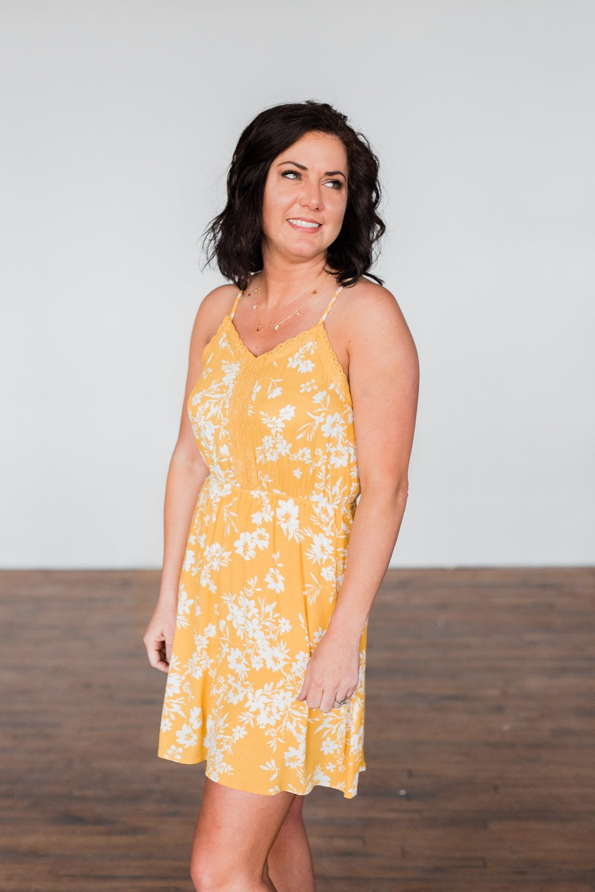 Like A Dream Floral Dress- Yellow