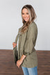 Care About You Lightweight Jacket- Olive