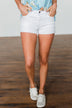 KanCan White Distressed Shorts