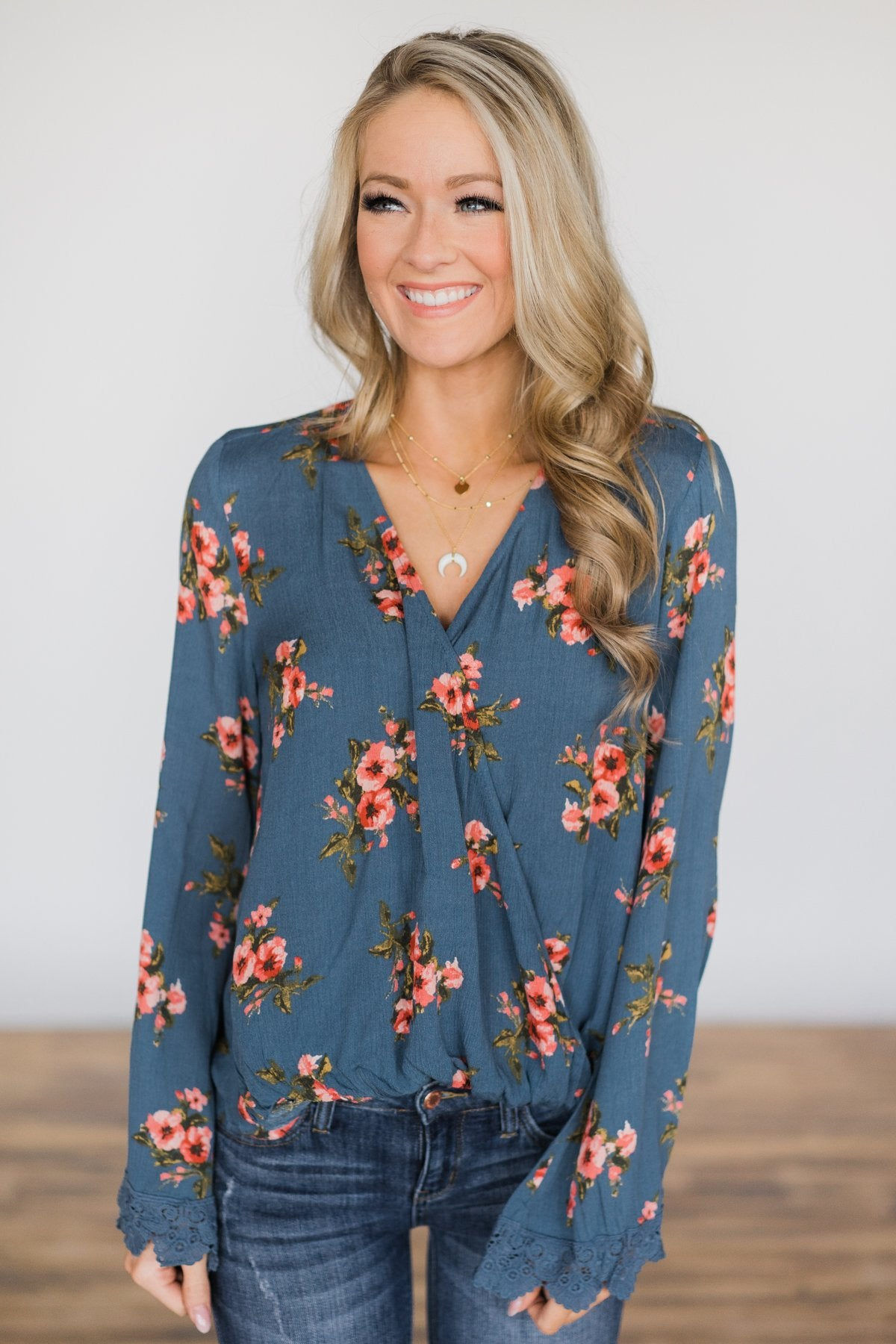 One Last Change Floral Top
