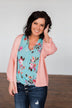 The Perfect Knit Cardigan- Salmon Pink