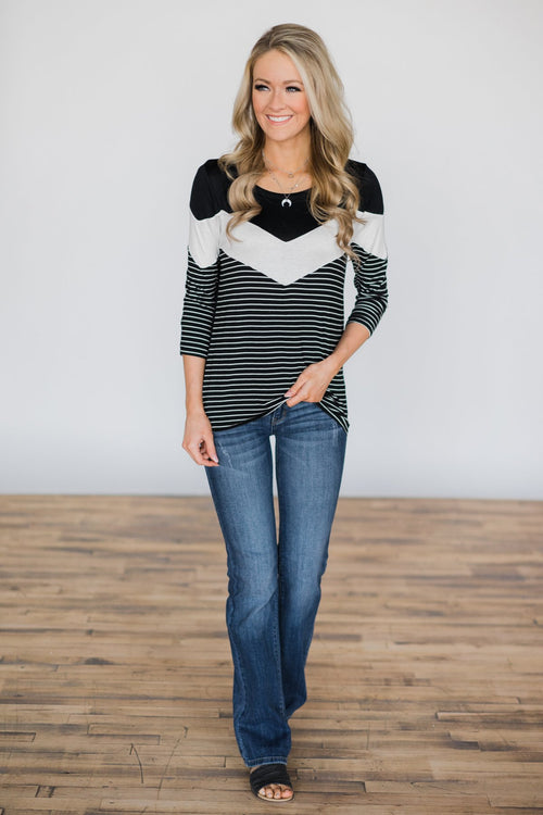 Keeping Promises Striped Top Outfit