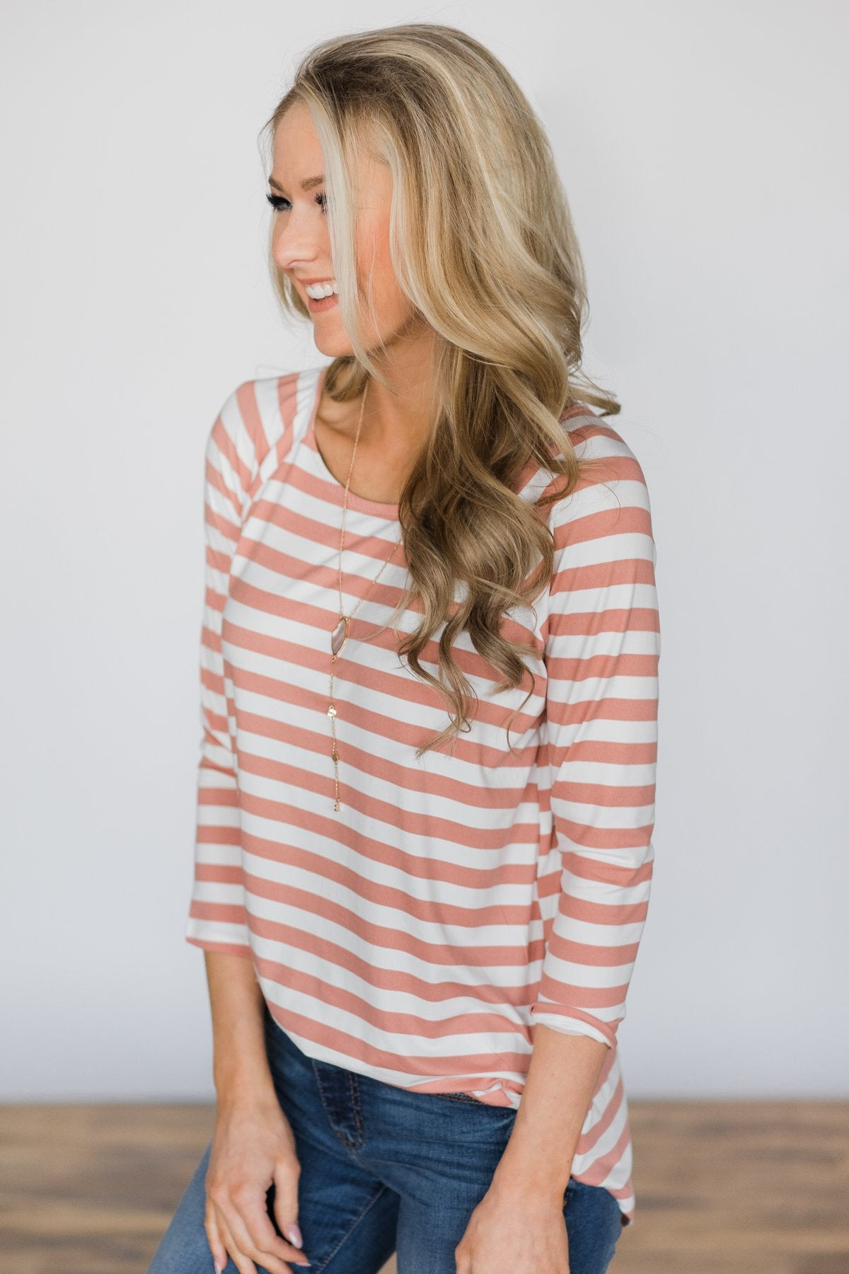 Comes Naturally Striped Top