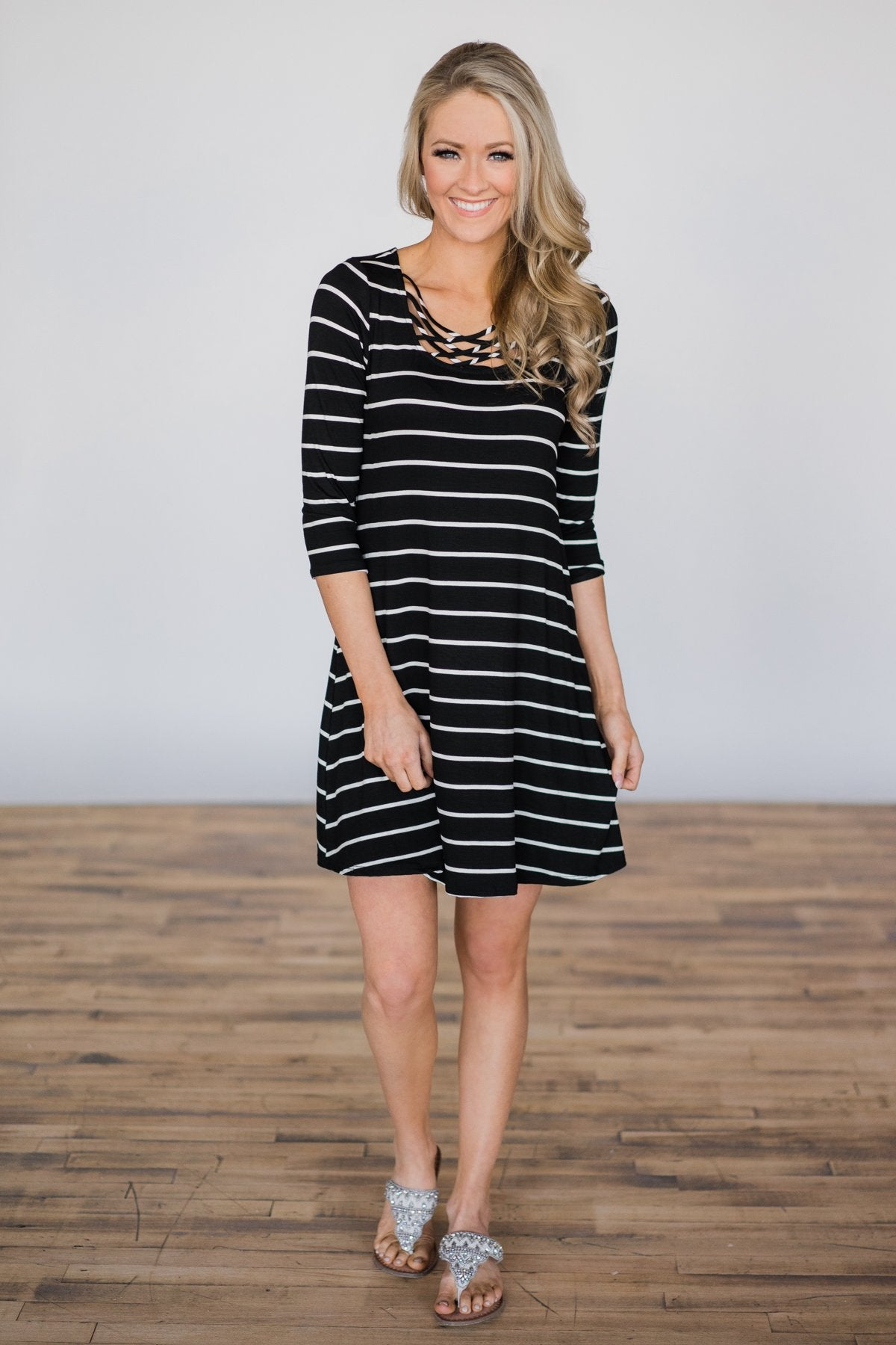 She's Got It Striped Dress