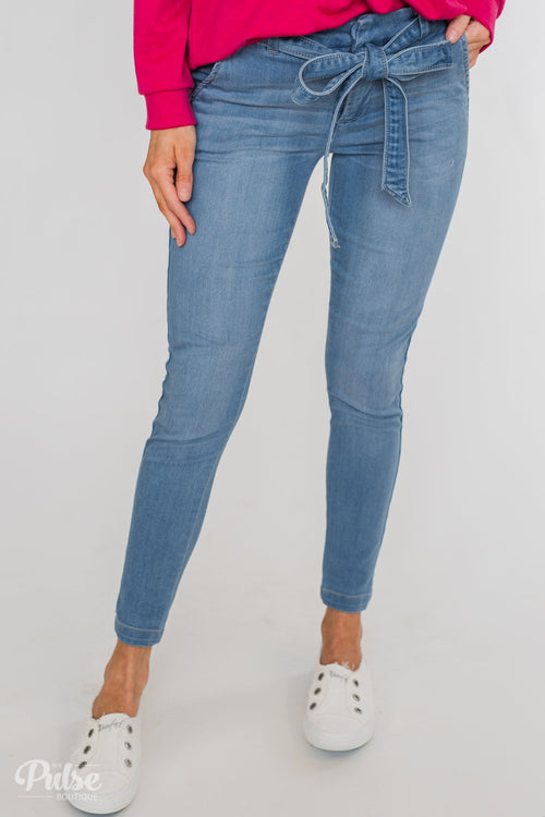 Celebrity Pink Belt Jeans- Kingston Wash