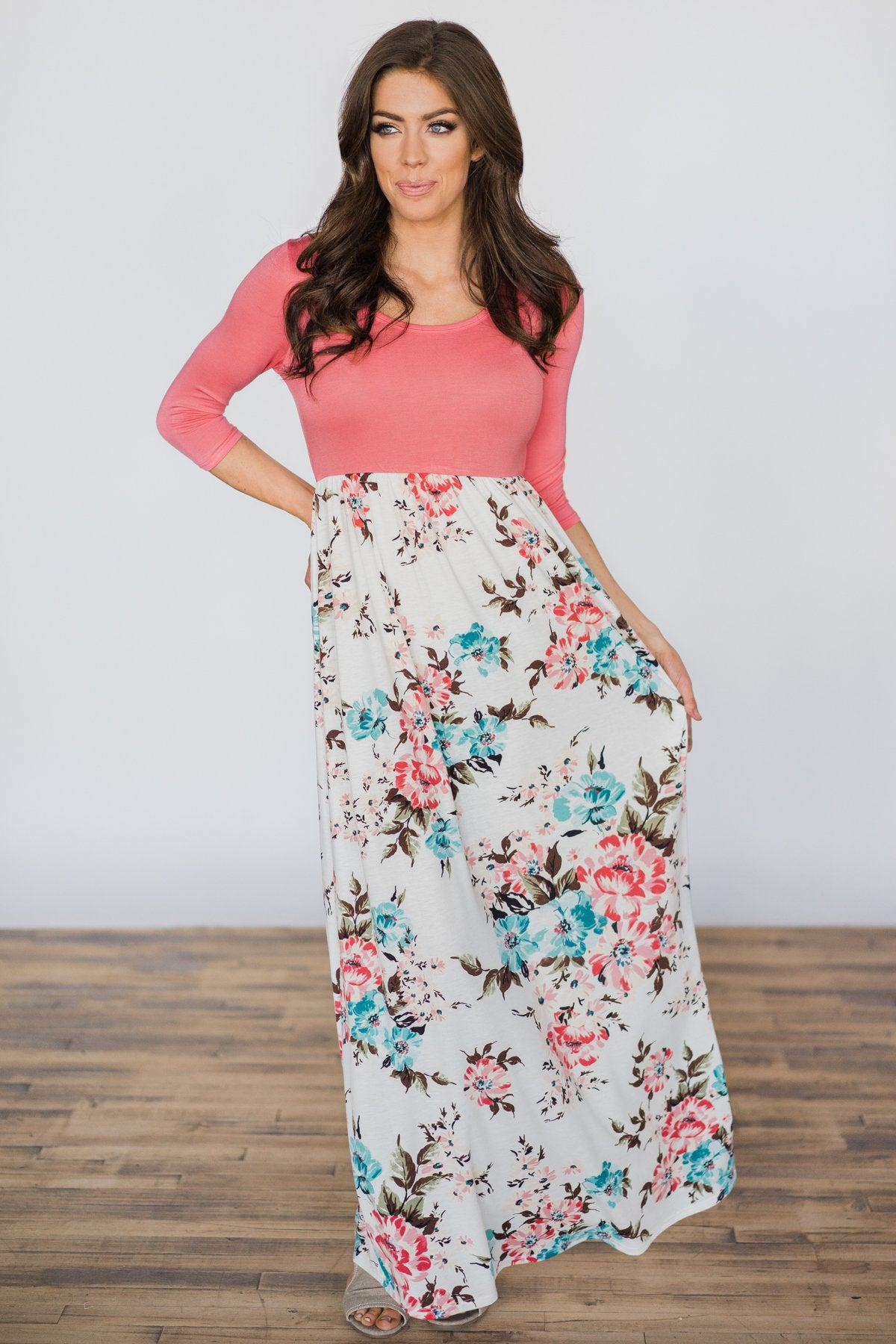 So Joyful Maxi Dress - Black Floral