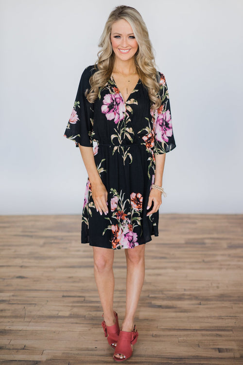 Right From The Start Floral Dress Outfit