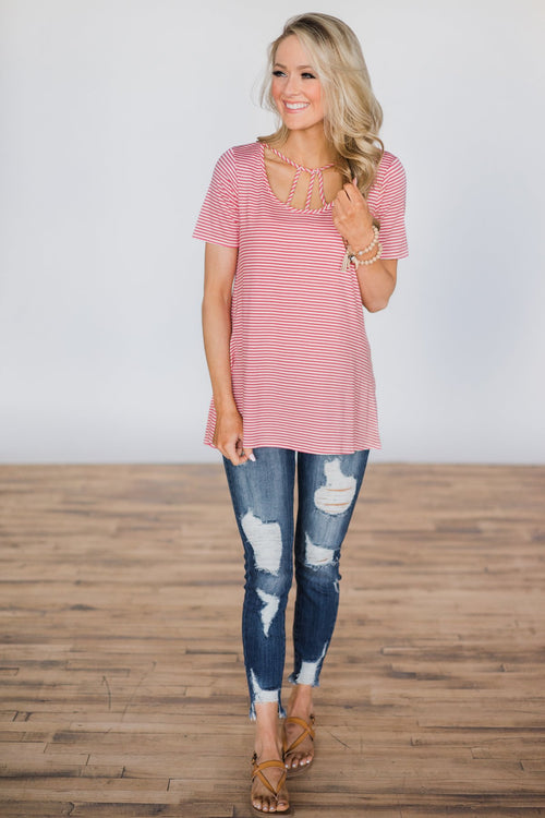 A Perfect Opportunity Striped Top Outfit