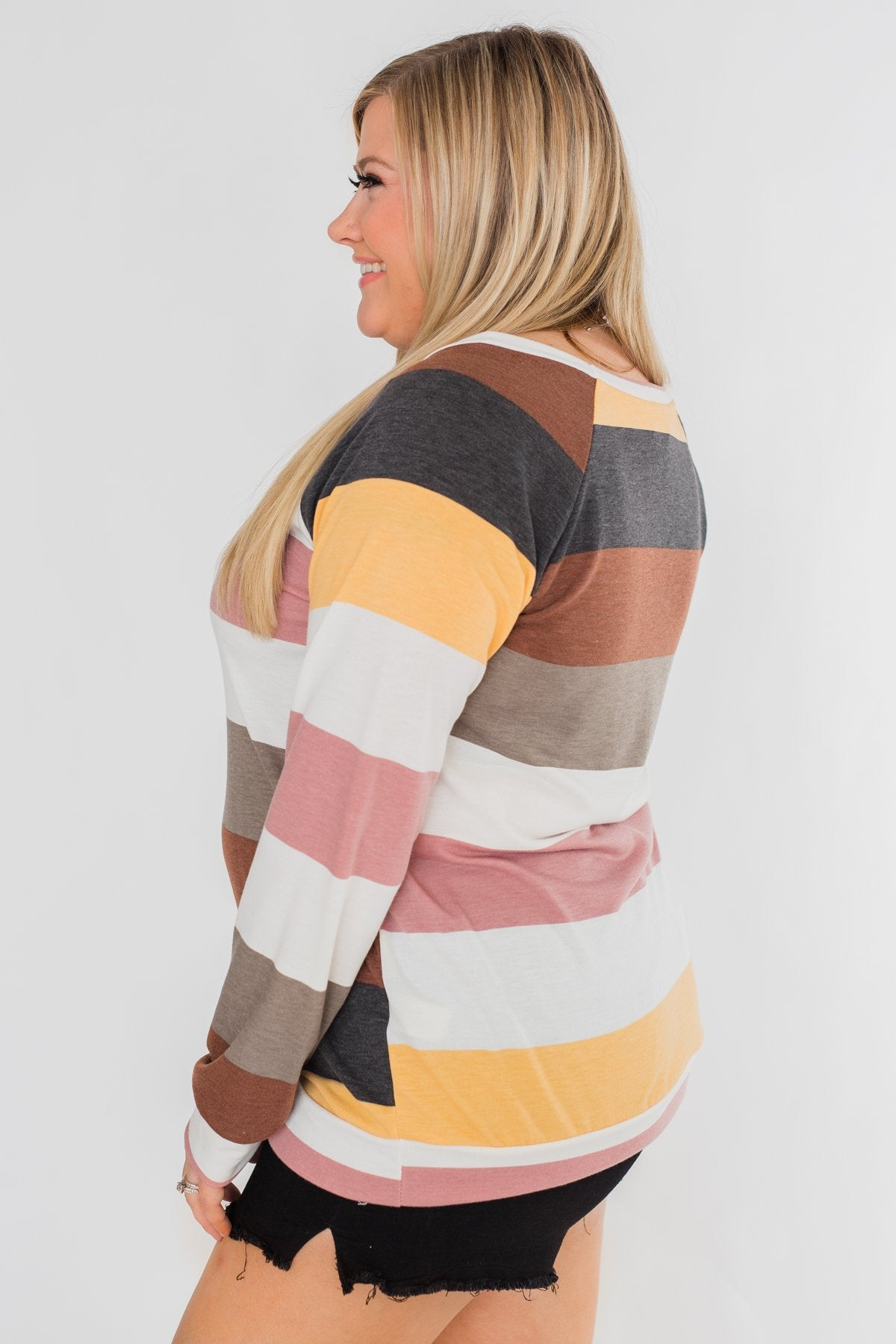 Better Off This Way Striped Top- Multi-Colored