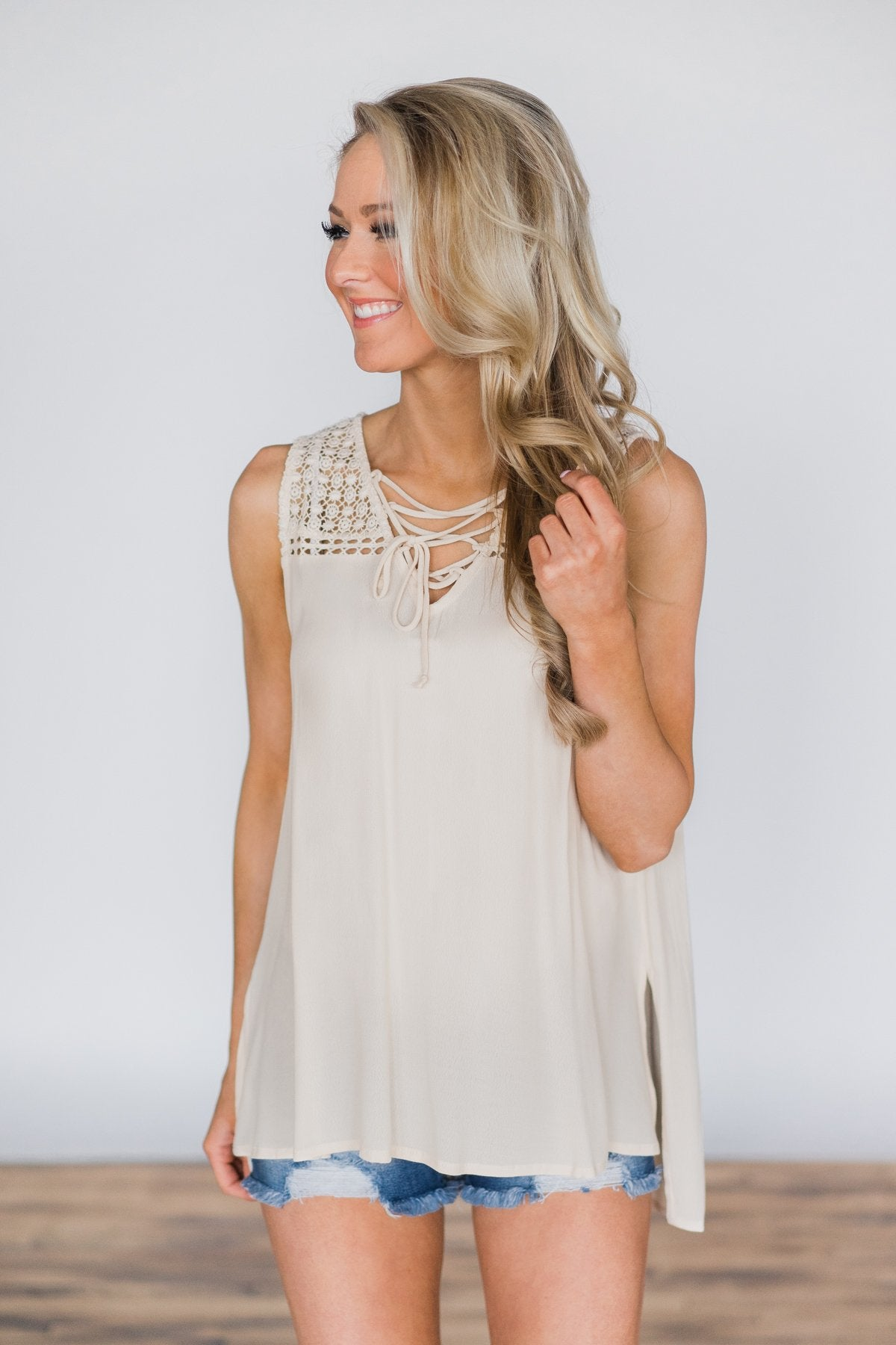 A Perfect View Cream Tank Top