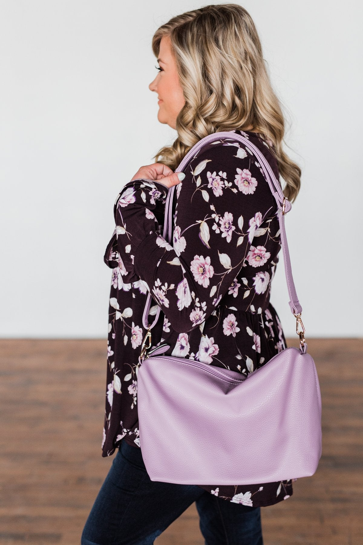 Bring on the Day Zipper Purse- Lavender