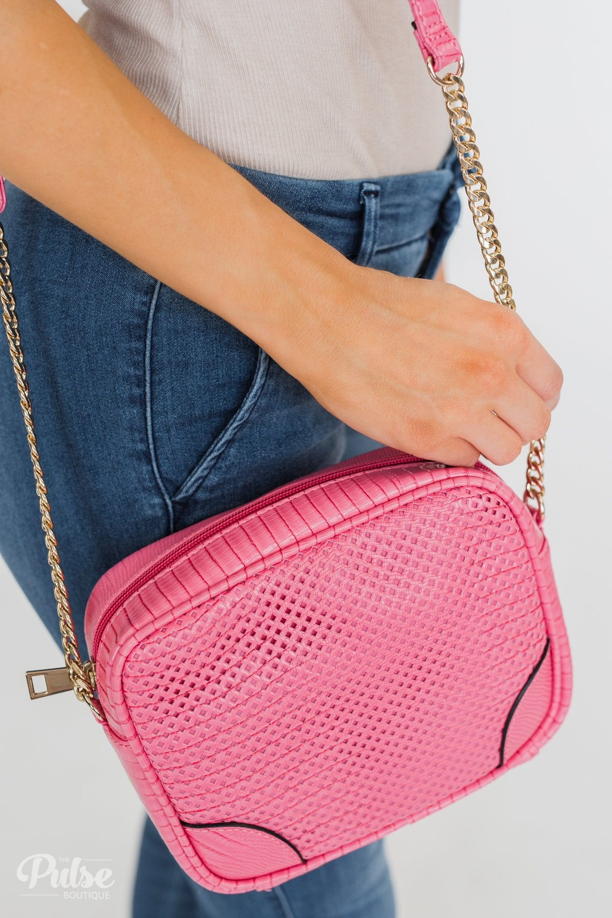 Essential Crossbody Purse- Fuchsia