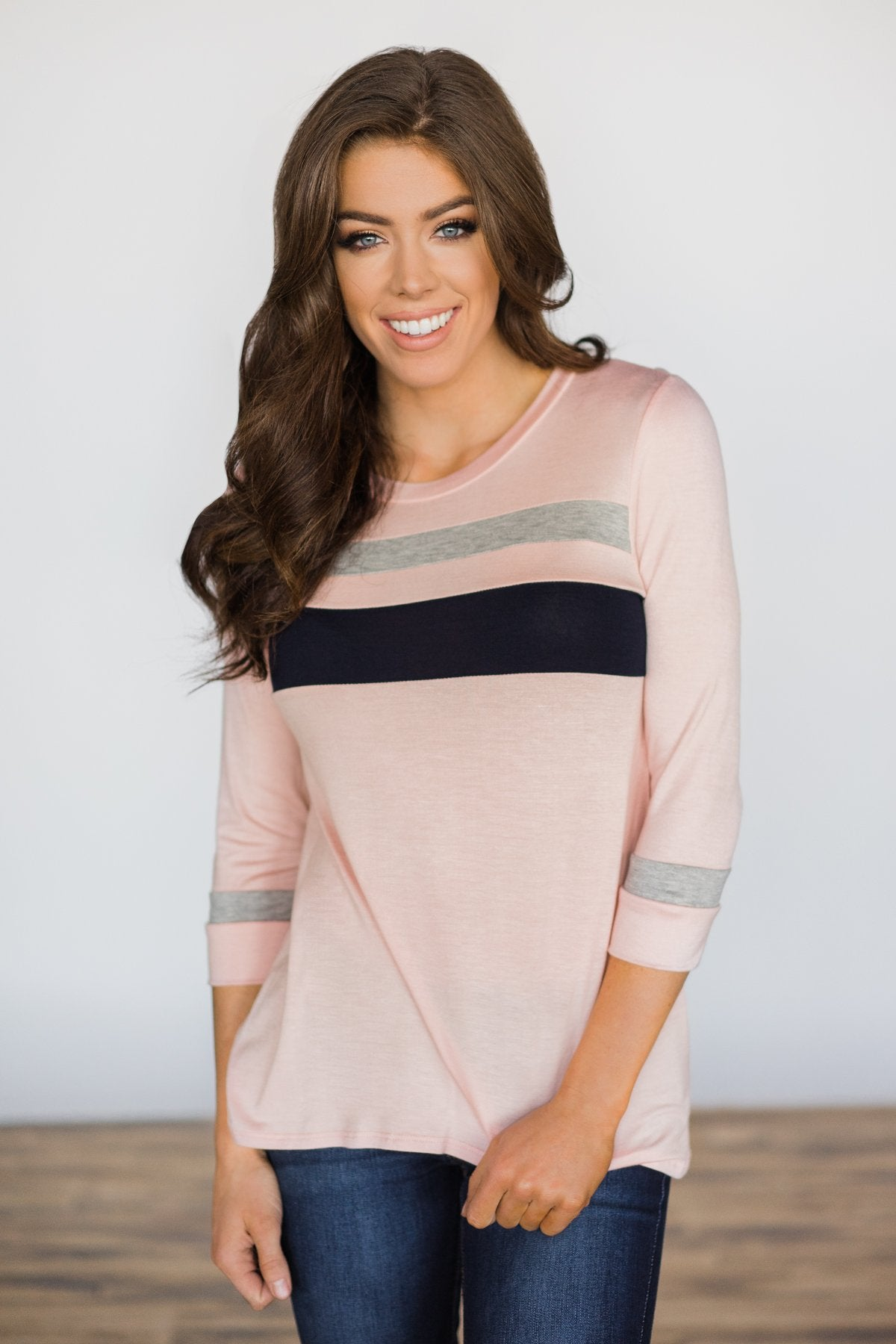 On the Brightside Color Block Top ~ Coral