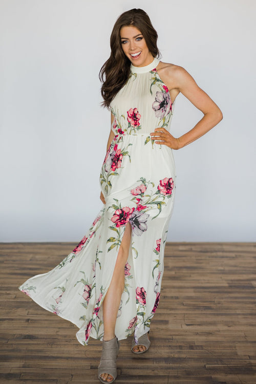 Moments in Maui Floral Maxi Dress