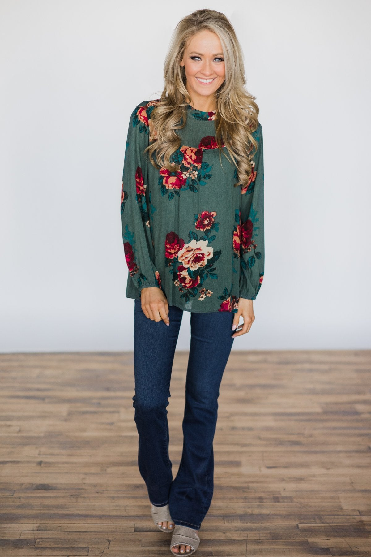 Found the One Floral Top