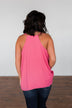 Speaks To My Soul Racerback Tank Top- Punch Pink