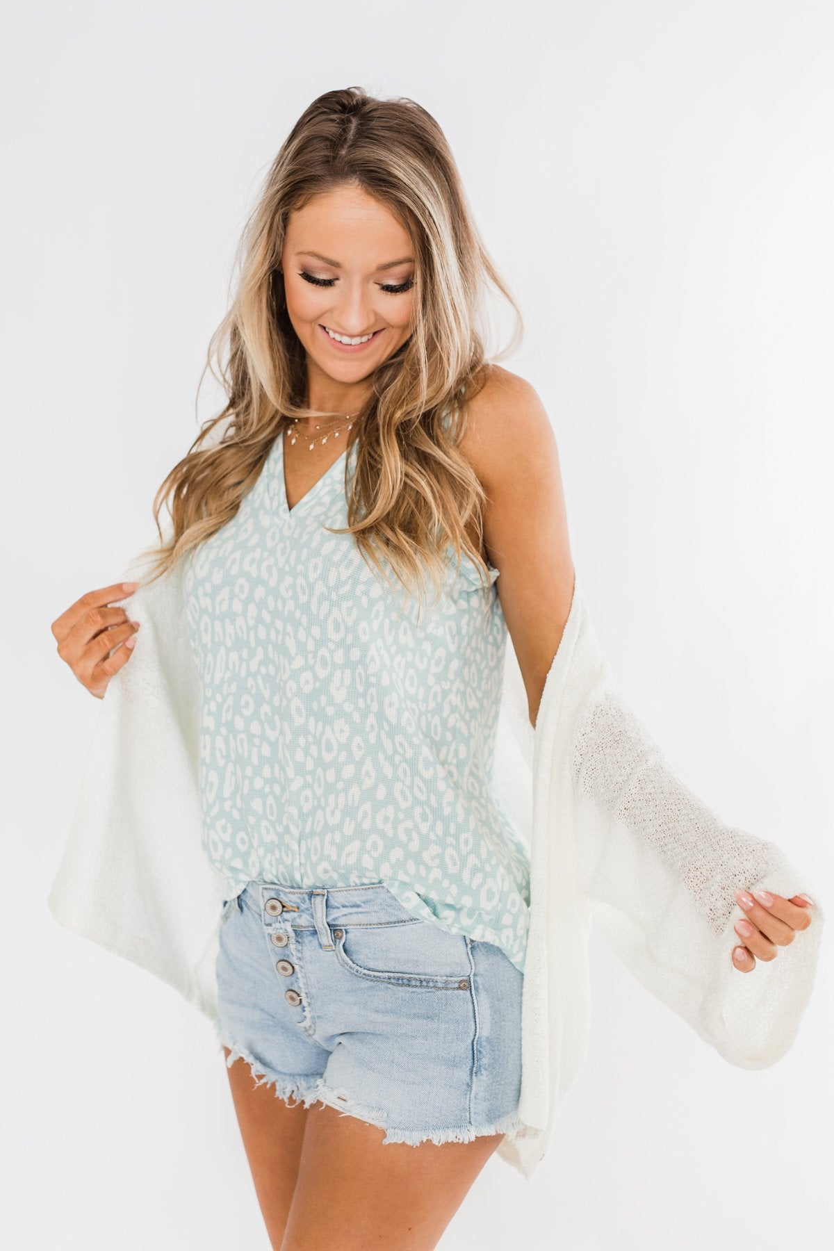 Waiting On A Miracle Knitted Cardigan- Ivory
