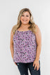 Sweet On You Printed Tank Top- Purple