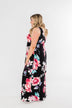 Miracle Of You Floral Maxi Dress- Black