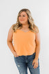 V-Neck Shift Tank Top- Mango