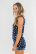 Easily Attracted Floral Tank Top- Navy