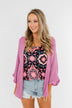 The Perfect Knit Cardigan- Orchid