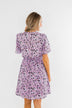 Embrace The Beauty Wrap Tie Dress- Purple