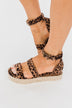Sugar Tahini Platform Wedges- Tan Leopard