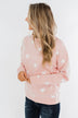 Counting The Stars Crew Neck Pullover- Light Pink
