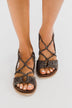 Very G Destiny Sandals- Grey Leopard